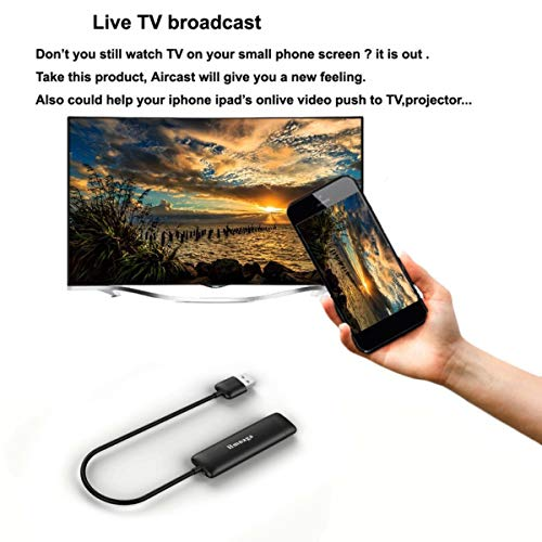 WD01 WiFi Wireless Display Dongle Receiver 2 4G Miracast Mobile TV Projector Color black