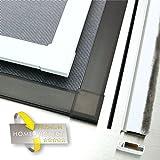 Profi Insektenschutzfenster Alu Bausatz 341 weiß 120x150cm Fliegengitter Gaze Mücken