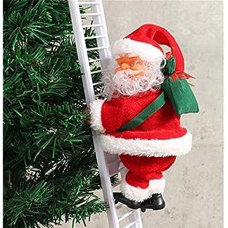 ZHENshasha Escalera de Escalada eléctrica de Navidad de Santa Claus Ornamento Decoración Regalos Divertido Navidad Papá Noel Cuerda Mercado Escaparate Árbol Colgante Decoración Adornos Navideños