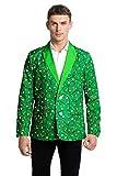 U LOOK UGLY TODAY Chaleco de Navidad Feo para Hombre Blazer Holiday Party Blazer con Divertidos Disfraces de Navidad, Abrigo para Hombre