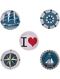 Morella–® de mujer Click Button Set 5Unidades Botones de presión Love Maritim