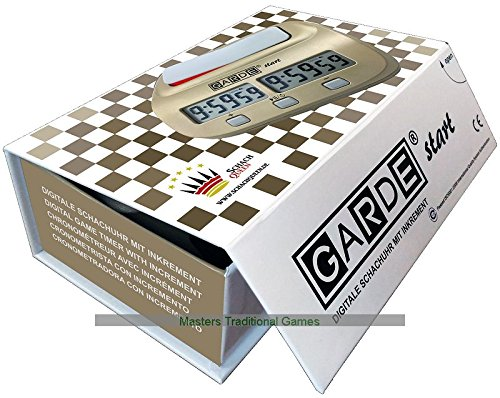GARDE-start-digitale-Schachuhr-mit-1-Bedenkzeitperiode-plus-wahlweise-Fischer-oder-Bronstein-Inkrement