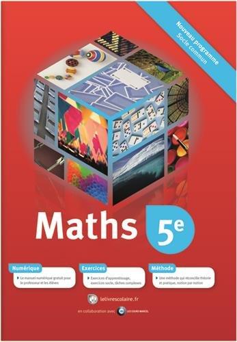 Mathématiques 5e : Manuel élève