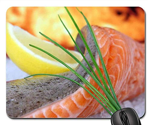fdghjdyjdty Mouse Pads - Salmon Barbecue Barbeque Bass BBQ Chef Cod