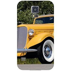 Samsung Galaxy S5-Vintage Car Matte Finish Phone Cover