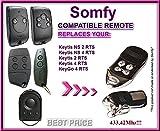 Somfy KeyGo 4RTS kompatibel Fernbedienung Ersatz Sender, 433,42Mhz Rolling Code Schlüsselanhänger
