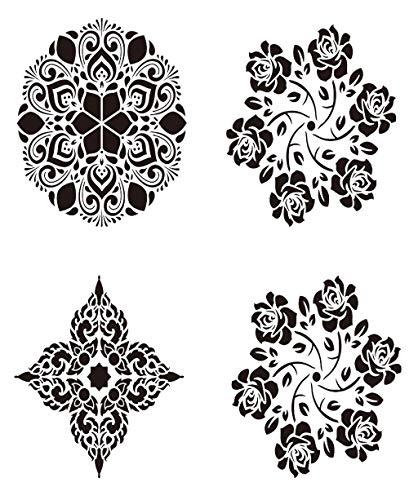 mplate Schablone Mandala Schablone Art Template Set Hohlplastik Malvorlage zum Erstellen von gemusterten Hintergründen und Kunstwerken für Bastelprojekte ()