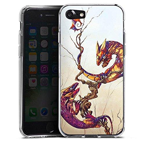 Apple iPhone X Silikon Hülle Case Schutzhülle Drachen Fabelwesen Traumwelt Silikon Case transparent