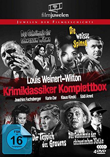 Louis Weinert-Wilton - Krimiklassiker Komplettbox (Der Teppich des Grauens / Die weiße Spinne / Das Geheimnis der schwarzen Witwe / ..chinesischen Nelke) - Filmjuwelen [4 DVDs] - Bild 1