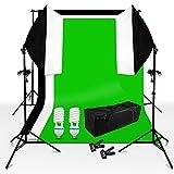 Studioleuchte Softbox Dauerlicht Foto-Ausrüstung mit Schwarz weiß Bild, Boden, E27