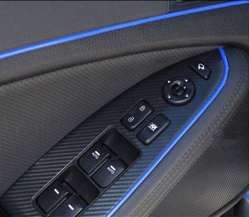 Moteur 3D DIY Automobile Voiture ligne Intérieur Décoration extérieure Garniture Moulding bande Sticker-Bleu