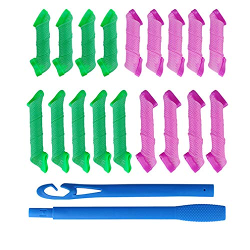 SHAFIRE 18 Pieces Rollers and 2 Pieces Hooks DIY Hair...