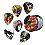 Bruce Springsteen Set of 6 Loose Guitar Médiators in Tin ( Collection A )