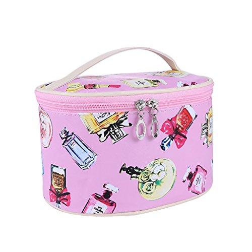 CLOTHES- Sacchetto cosmetico borsa portatile dell'acqua della borsa di viaggio sacchetto della borsa di lavaggio piccolo sacchetto quadrato sveglio pacchetto semplice ( Colore : Blu ) Rosa