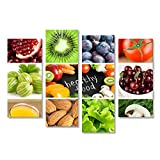 islandburner Bild Bilder auf Leinwand Healthy Food Vegan Vegetarische Küche Poster, Leinwandbild, Wandbilder
