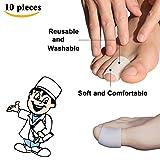 sumifun–10pezzi di Gel Toe Caps morbido materiale per prevenire vesciche calli per adulti Big dita e piccole dita...