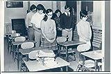 1970 Photo de Presse Children Brockton MA High School Étudiants Bureau Vintage 7 x 28 cm