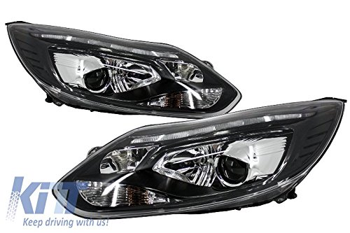KITT hlffiii LED-Scheinwerfer DRL Xenon Look für Ford Focus III 11+ Tagfahrlicht