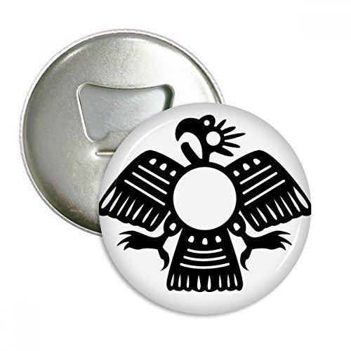 DIYthinker Die Alten Ägypten Abstrakt Adler Muster rund Flaschenöffner Kühlschrank Magnet Pins Abzeichen-Knopf-Geschenk 3pcs Silber -