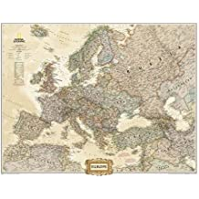 Europe Executive, enlarged &, tubed : Wall Maps Continents: NG.PC620326 (Reference - Continents)