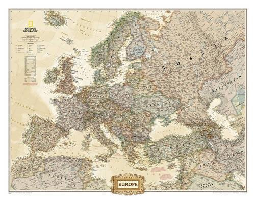 Europe Executive, enlarged &, tubed : Wall Maps Continents: NG.PC620326 (Reference - Continents) por National Geographic Maps