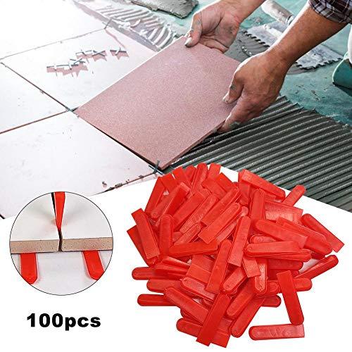 Cherishly 100 STÜCKE Fliesen Leveling System Fliesen Positionierung Leveler Equalizer Pad DIY Fliesen Leveler Spacer Fliesen Aids Kunststoff Keile