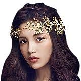 Dayiss® Gold Blättern Haarschmuck Strass Haarschmuck mit Perle Diamant...