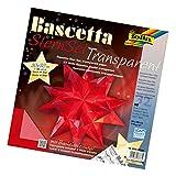 folia 820/3030 - Bastelset Bascetta Stern, Transparent, 30 x 30 cm, 32 Blatt, rot