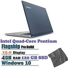 "2018 Lenovo IdeaPad 320 15.6"" HD Laptop, Intel Pentium N4200 Quad-Core Processor, 4GB RAM, 120GB SSD, DVD-RW, WiFi, Bluetooth, HDMI, SWindows 10, Denim Blue"