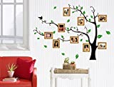 UberLyfe Large Photo Picture Frame Tree Vine Branch Wall Sticker Size 4 - Left Facing (Wall Covering Area: 107cm x 97cm) - WS-86-BK