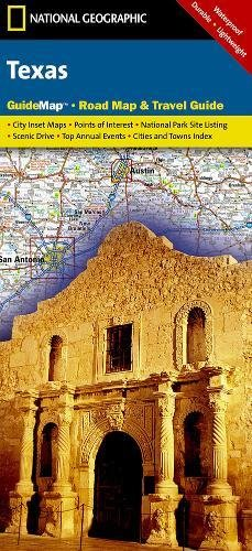 Texas: National Geographic Guide Map: NG.GM38.00620543 - Usa Aus Texas State Karte