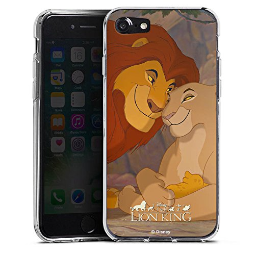 Apple iPhone 7 Plus Hülle Case Handyhülle Disney König der Löwen Fanartikel Merchandise Silikon Case transparent