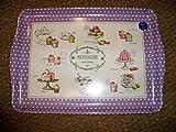 boite-a-cadeaux–Tray Melamine Purple Décor Pastries Model Treats