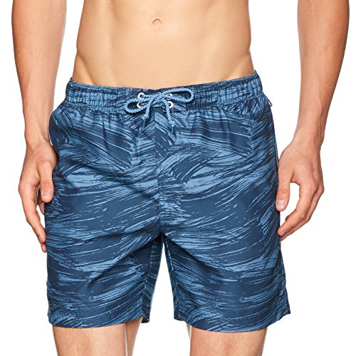 Original Penguin Tye Dye Elastic Volley, Shorts Uomo Blue (Dark Denim)