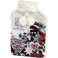 Ihr Wärmflasche mit Bezug aus Velours, Kunstfell und Bommeln–Weihnachten Racoon preisvergleich bei billige-tabletten.eu