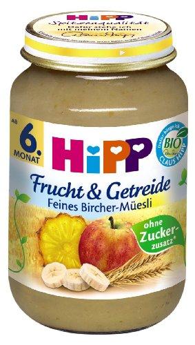 HiPP feines Bircher de Müesli Lot de 6 (6 x 190 g) - Bio