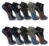 12paia di calze da uomo Sport Tempo libero Sneaker fuesslinge cotone 39–42; 43–46–bestsale247, Fantasia 3, 39-42