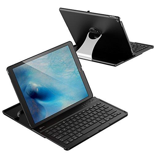 """iPad Pro Teclado, JETech Teclado Inalámbrico de Bluetooth con Funda para Apple iPad Pro 12.9"""" con Multi-Ángulo Soporte, Rotación de 360 Grados"""