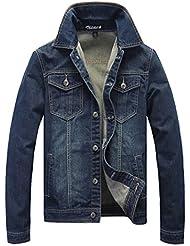 Zicac- Nouvelle mode veste Jeans style rétro avec des manches longues épaisse veste de denim de style européen homes