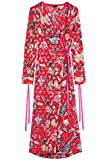 Find Women's  Floral Kimono-Style Party Dress, Multicoloured (Multicoloured Mpr 301), 10 (Manufacturer size: Small)