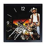 Orologio da parete in Legno Harley Davidson and marlboro man