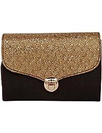 ROVEC Fancy Stylish SLING Bag For Women & Girls (GOLDEN) - B0776ZCL2M