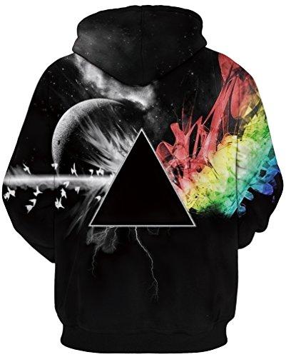 TDOLAH Herren Kapuzenpullover mit Aufdruck Sweat Hood Herbst Hemd schwarz Dreieck