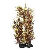 DealMux Bambus-Blätter Aquarium Pflanzen Ornament, 15-Zoll, Gelb / Braun