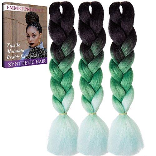 Jumbo Braids-Premium Qualität 100% Kanekalon Braiding Haarverlängerung Full Bundles 100g / pc Synthetik Haar Ombre 24Inch 3Pcs / lot Hitzebeständig, lange Zeit mit-37 Farben 2Tone & 3Tone, Garantie 1 Woche ändern oder Rückerstattung(Farbe 70)