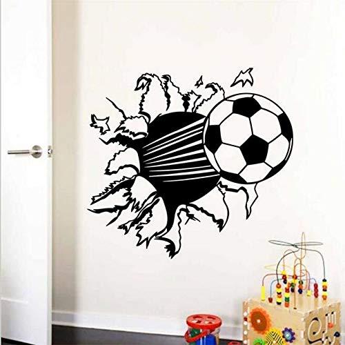 Fengdp Balón fútbol fútbol Vinilo Etiqueta Pared