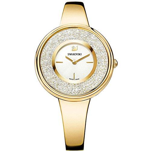 Swarovski Crystalline Pure Damen-Armbanduhr 34mm Gold Quarz 5269253