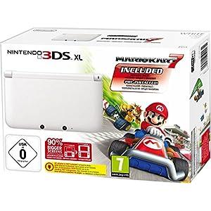 Nintendo 3DS XL – Konsole, weiß + Mario Kart 7 (vorinstalliert) – Limitierte Edition