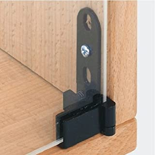 Handles & Ironmongery Glass Door Pivot Hinge Inset Door 180 Degrees Black 1 Pack Contains 2 Hinges