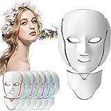 Máscara de terapia Velidy Light de 7 colores con luz LED, para terapia facial, cuello, belleza, cuidado de la piel, antiarrugas, blanqueamiento para el hogar y el salón